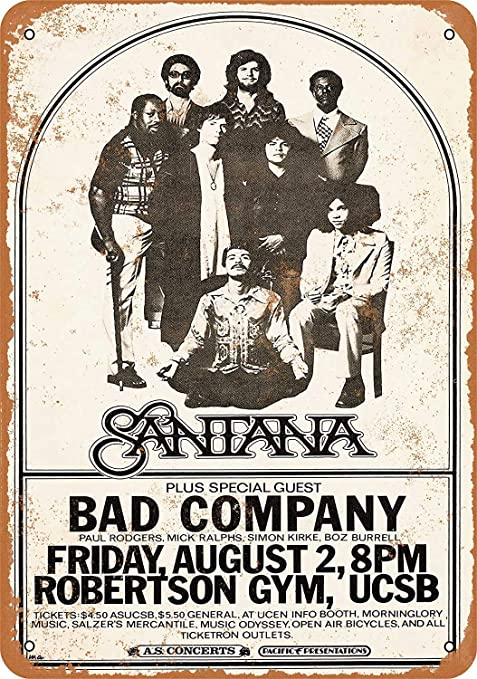 Fluse Santan and Bad Company Vintage Metal Art Chic Retro ...