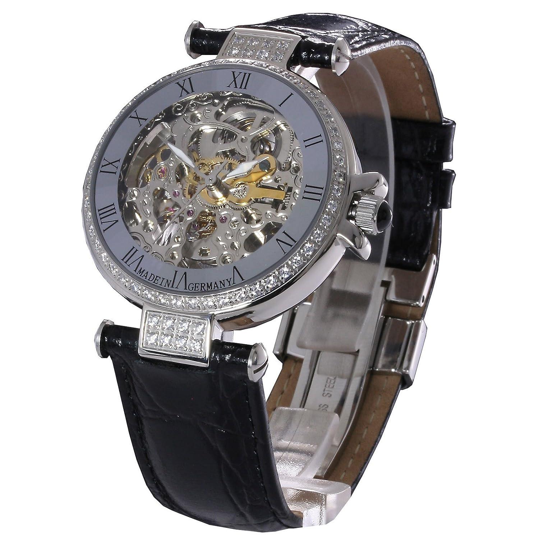 Damen-Automatikuhr - Damenarmbanduhr - Damenuhr -L&G Atlantis- mit sichtbarem Uhrwerk