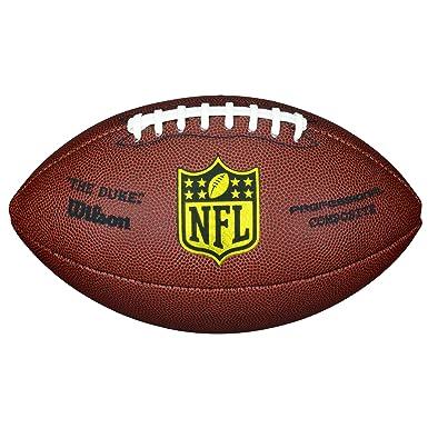 e70126032f95 Wilson Ballon Football Américain, Utilisation récréative, Taille  Officielle, NFL DUKE REPLICA, Brun