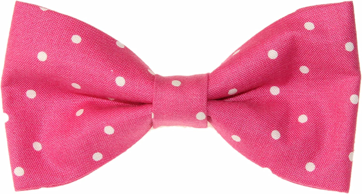 Free Shipping White Black Pin Dots Clip-On Cotton Bow Tie Choice of Men/'s Boys or Toddler Novelty Clip On Bow Tie