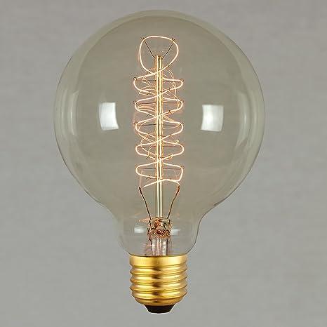 Ampoule Edison Vintage 60w 95mm Grosse Spherique A Filament En