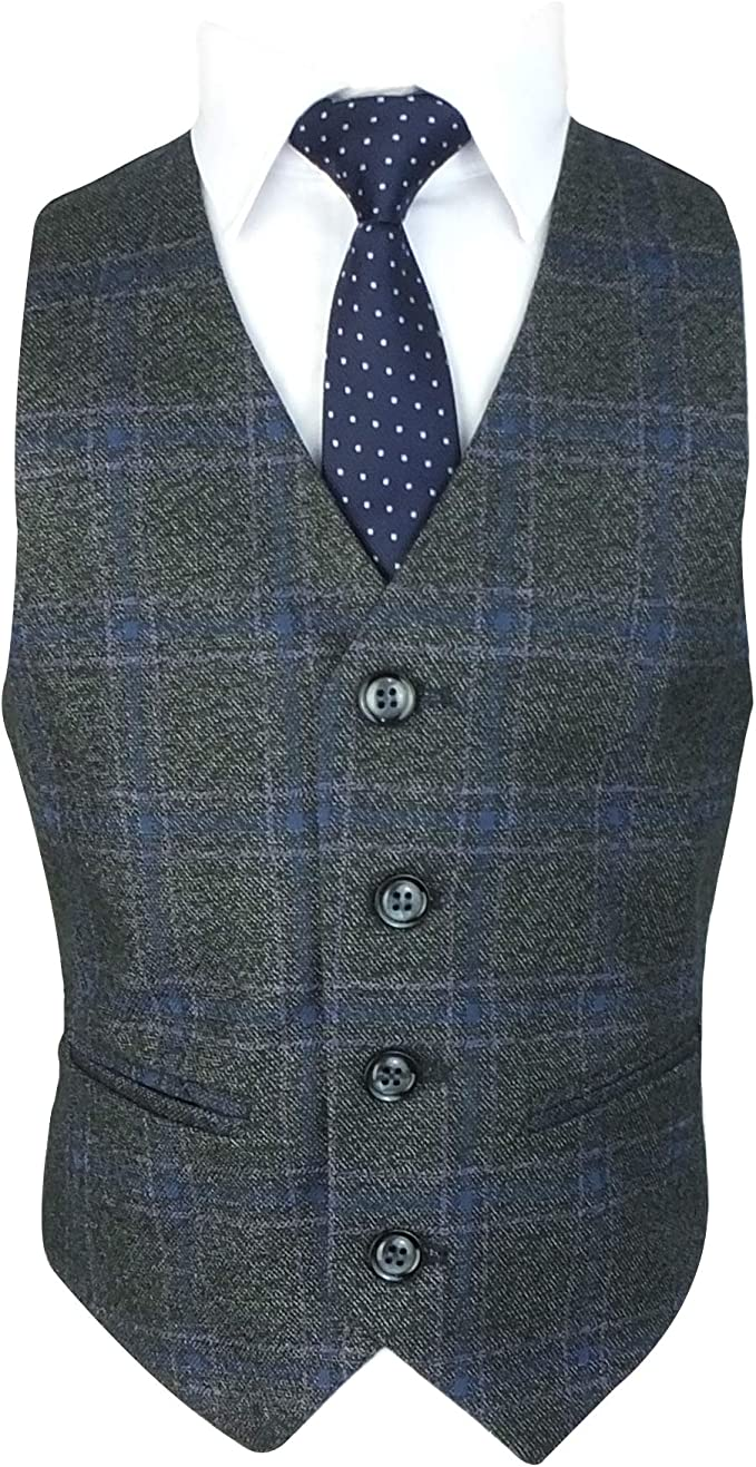 Romano 50064 Los exclusivos Trajes de diseño Plaid Tweed Slim fit ...