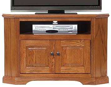 Amazon Com American Heartland Oak Corner Tv Stand In Light Kitchen