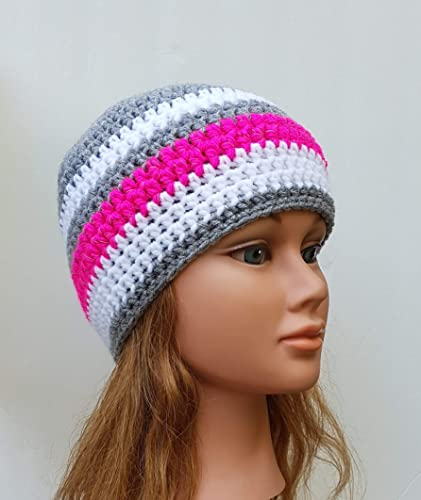 3549b2bfad4 Image Unavailable. Image not available for. Color  Women s Light Grey  Crochet Beanie