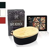 Dolce Mare® Panera - Caja para Pan de Madera - Paneras para Guardar el Pan - con Tabla de bambú Extremadamente práctica…