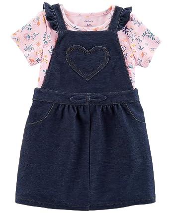 80632712e8fc Amazon.com  Carter s Baby Girls  2-Piece Heart Bodysuit   Jumper Set ...