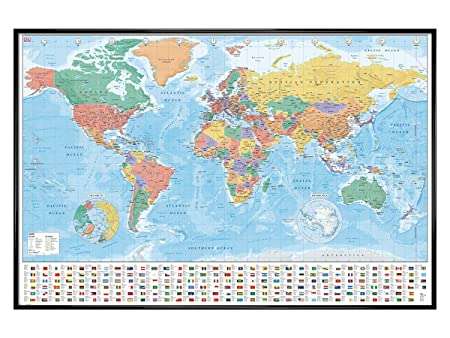 Grindstore gloss black framed world map flags and facts maxi poster grindstore gloss black framed world map flags and facts maxi poster 61x915cm gumiabroncs Images