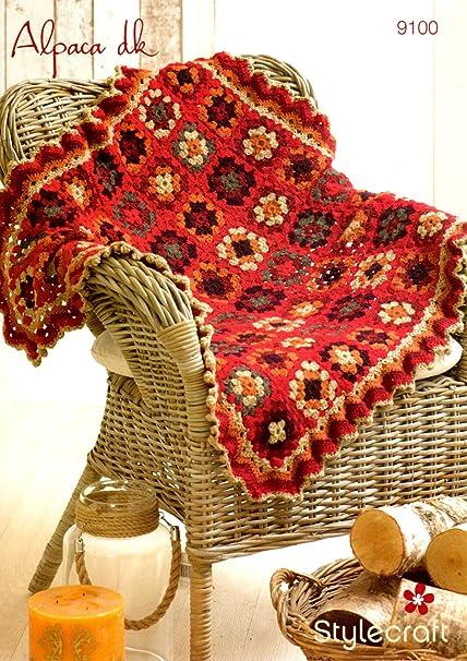 Stylecraft Alpaca Dk Crochet Pattern For Decorative Star Blanket