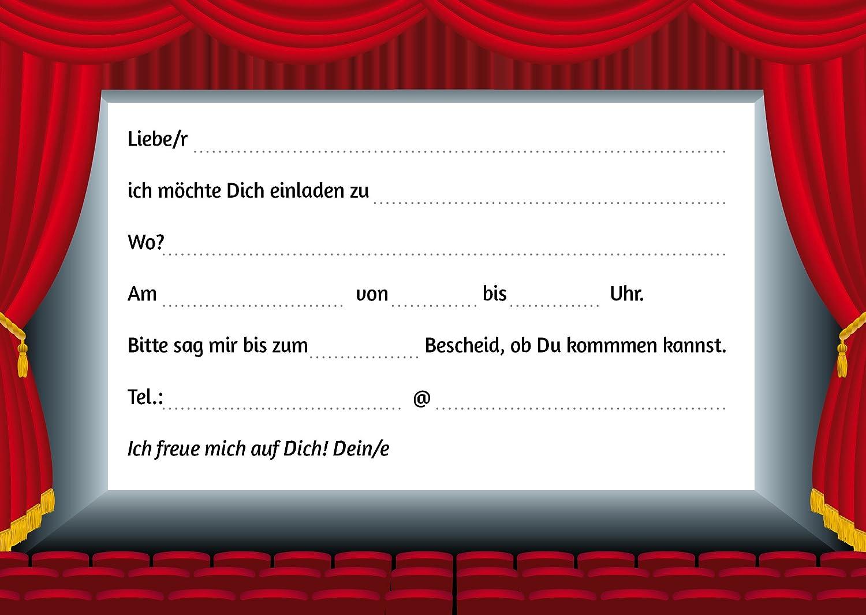 10 Kino Einladungen (Set 2): 10 Er Set Kino Einladungskarten Für Den  Nächsten