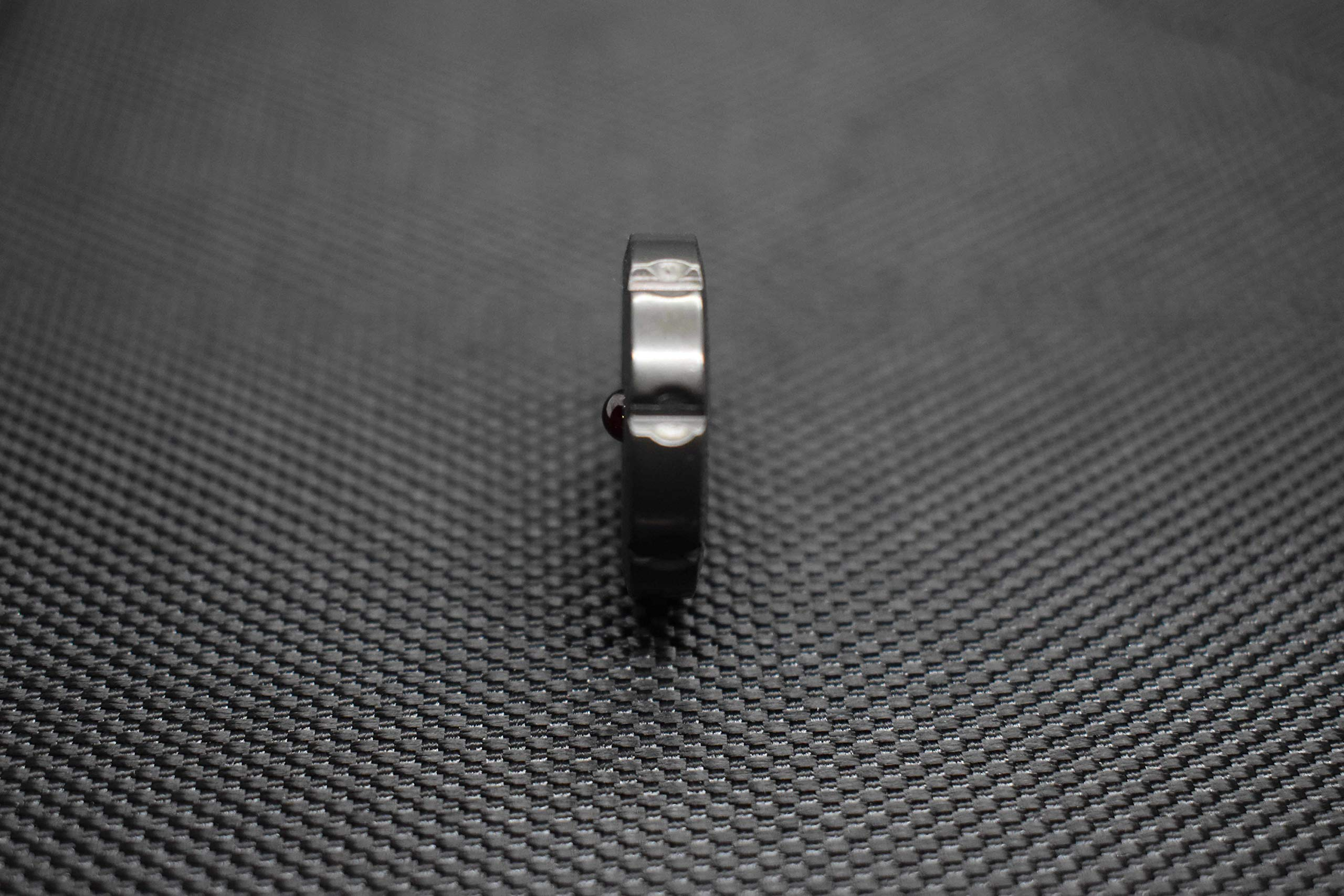 MetonBoss Worry Coin Black Zirconium & Ruby Bearing   Everyday Carry Gear   Precision-Made and Desktop Display by MetonBoss (Image #7)
