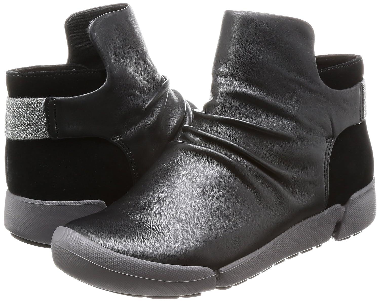 Clarks Weiblich Tri Pearl Stiefel (26127230) schwarz Leder (26127230) Stiefel 012d88