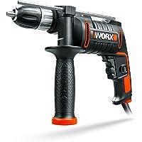 WORX WX klopboormachine toerentalregeling, diepteaanslag, gereedschaploze boorhouder boren in hout, beton & staal 600 W…