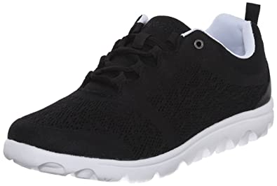 Propét Women's TravelActiv Fashion Sneaker,Black,5 Medium US