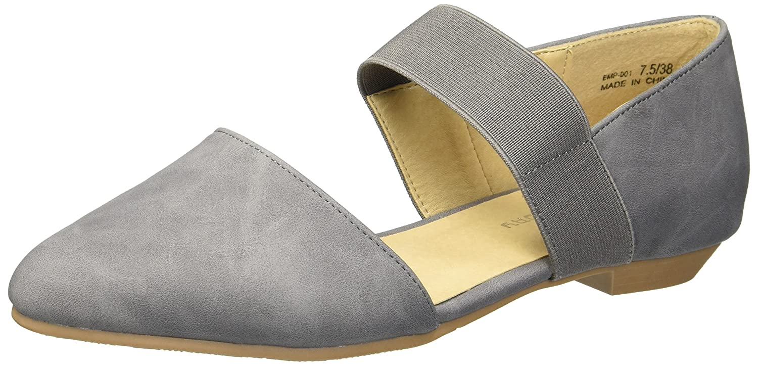 CL by Chinese Laundry Women's Edelyn Ballet Flat B079QKHXTZ 6.5 B(M) US|Charcoal Smooth