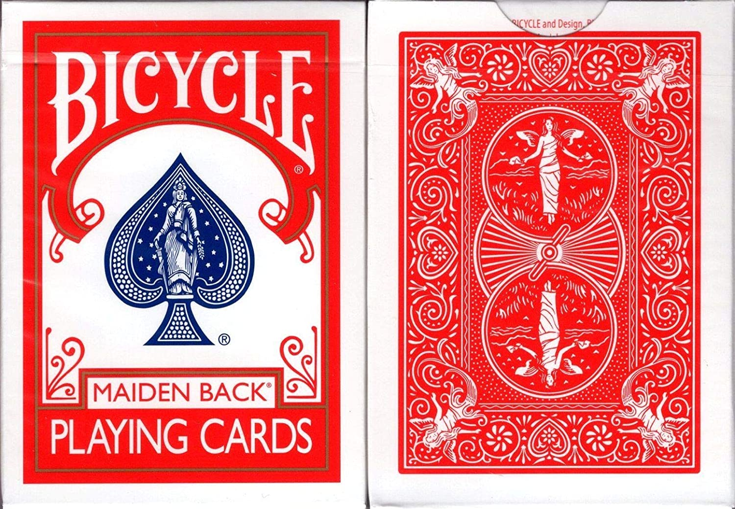 Bicycle Jugando a Las Cartas Marked Maiden Back Playing ...