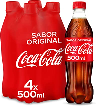 Coca-Cola Sabor Original Botella - 500 ml (Pack de 4): Amazon.es ...