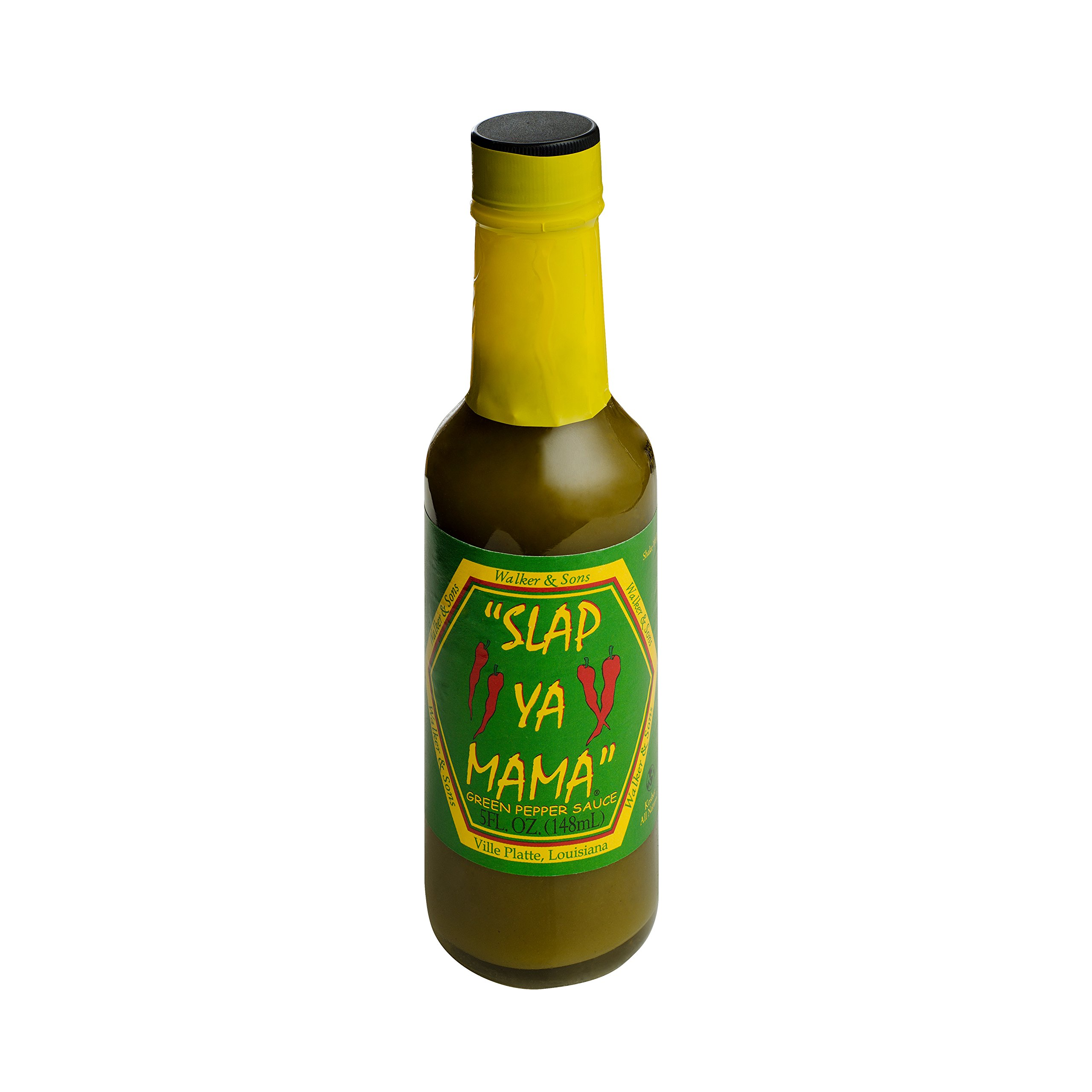 Slap Ya Mama All Natural Louisiana Style Hot Sauce, Jalapeno Flavor, 5 Ounce Bottle, Pack of 1