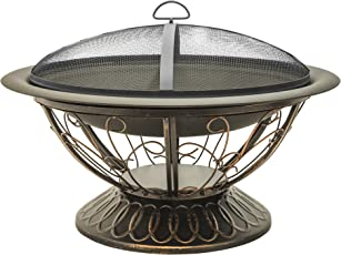 Shop Amazon.com | Fire Pits on Zeny 24 Inch Outdoor Hex Shaped Patio Fire Pit Home Garden Backyard Firepit Bowl Fireplace id=28882