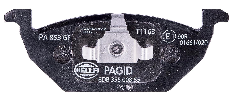 Vorderachse HELLA PAGID 8DB 355 008-551 Bremsbelagsatz Scheibenbremse