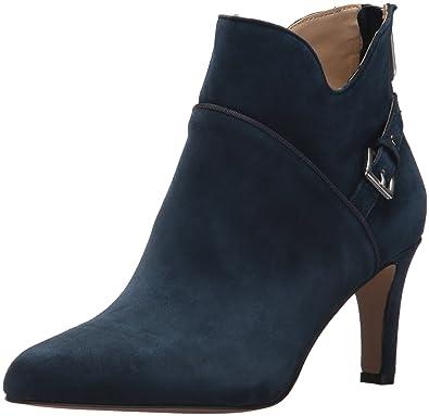 4598f3ddac8 ADRIENNE VITTADINI Footwear Women s Shaye Ankle Boot Navy 6 Medium US