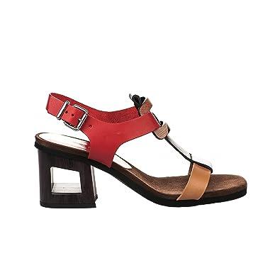 regard détaillé bf13e f04ec Hispanitas Nu Pieds Femme Rouge - 41: Amazon.fr: Chaussures ...