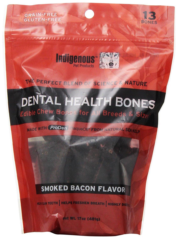 Set of 2 Indigenous Dental Health Bones Smoked Bacon Flavor