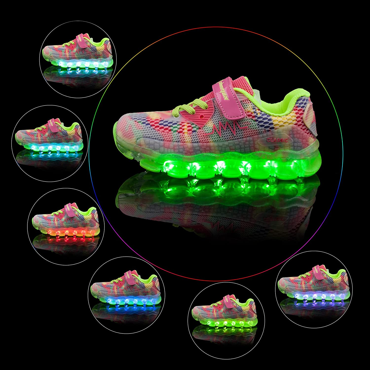 Shinmax LED Kid Shoes LED Sneakers Sport Shoes New-Released  Spring-Summer-Autumn 0b778c0169a9