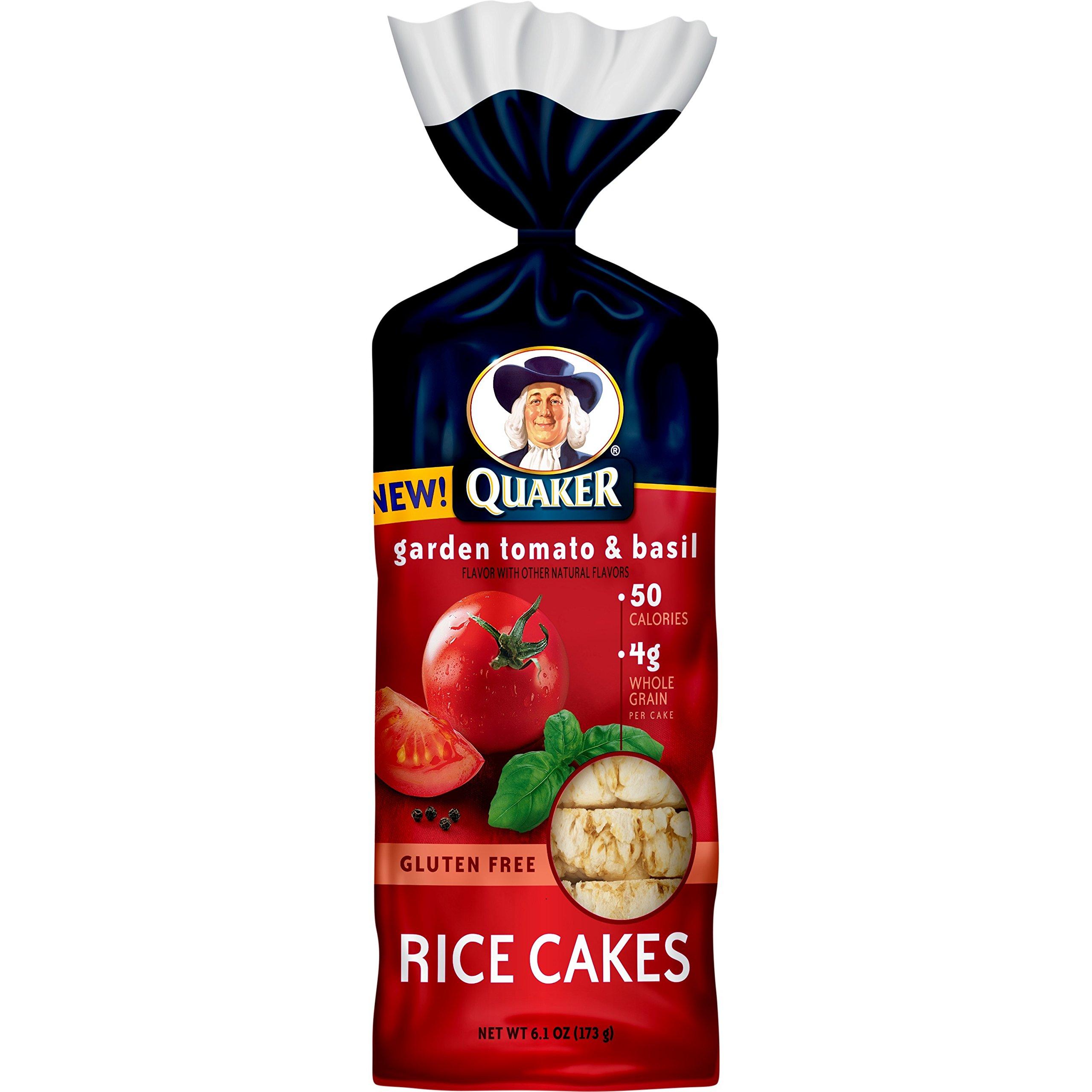 Quaker Rice Cakes, Garden Tomato and Basil, Gluten Free, 6.1oz by Quaker (Image #1)