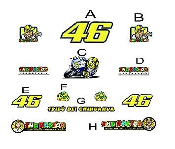 Pegatinas Stickers Tribu Del Chihuahua Rossi 46 Am8 Moto Gp Stickers Aufkleber Vinilos Adesivi Decals