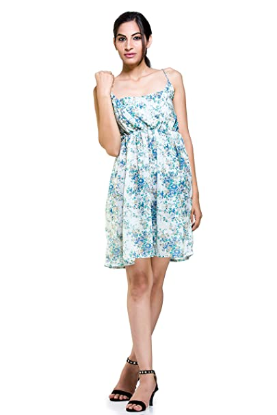 Handicraft-Palace Women s Floral Print Cotton Nighty Short Sexy Dress  Sleeveless Evening Party Cocktail Short fb8667c4e