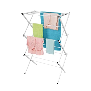 Lavish Home Clothes Drying Rack-24ft. of Drying Space-Collapsible and Compact for Indoor/Outdoor Use-Portable Stand for Hanging, Air-Drying Laundry