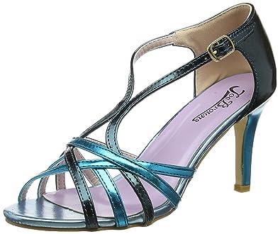 Joe Browns Valentino Strappy Metallic Sandals, Salomés Femme, (Blue Multi A), 41 EU