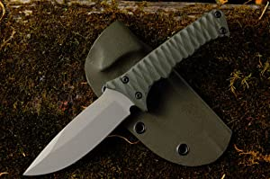 USA Made Titanium and OD Green Tusquittee Skinner Knife