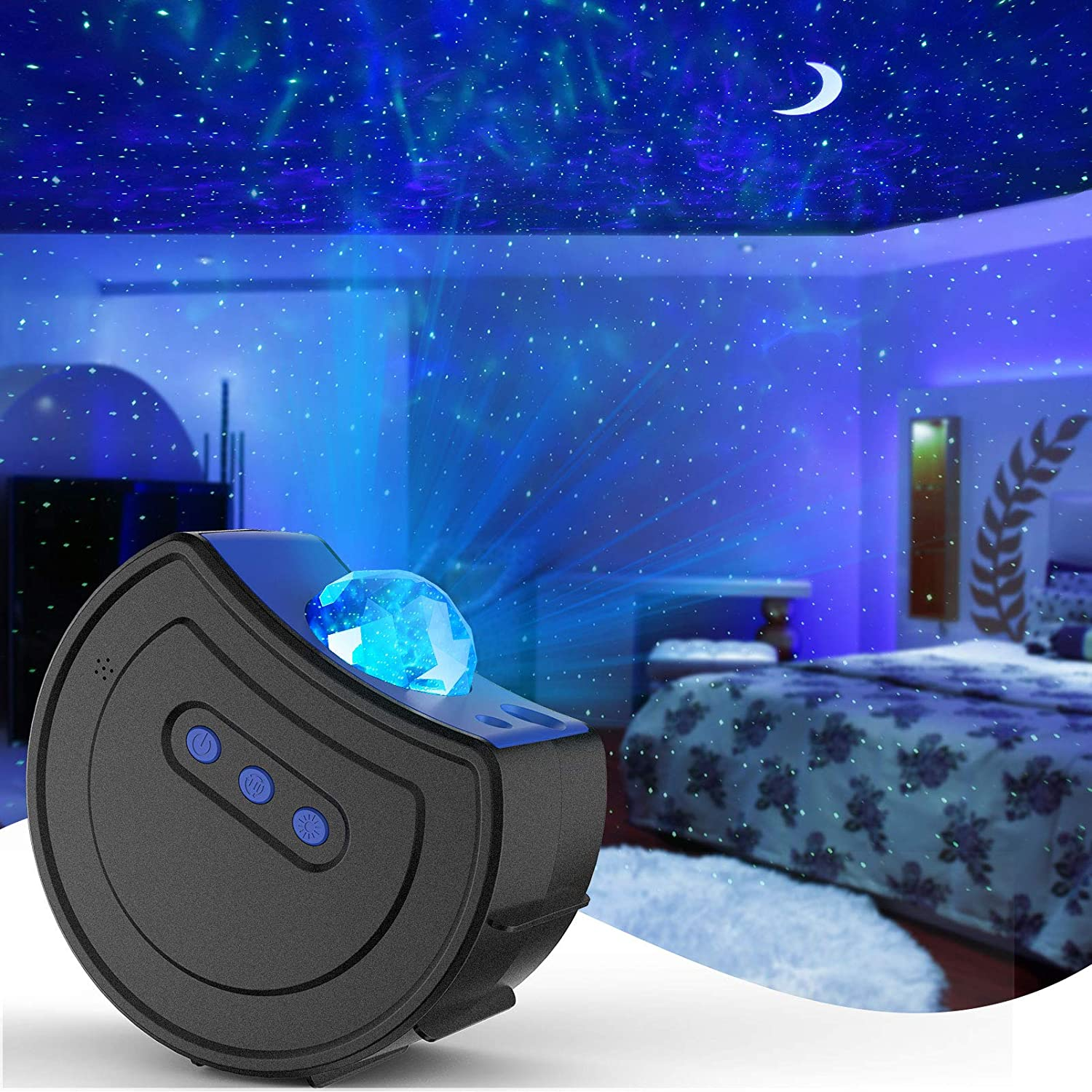 Amazon Com Star Projector Galaxy Night Light Projector Hisome Moon Sky Light For Bedroom Ceiling Led Starlights Starry Night Light Planetarium Nebula Cove Projector For Kids And Adults Party Birthday Wedding Home Improvement