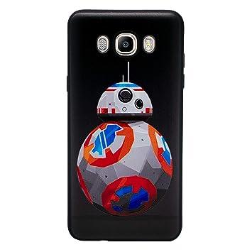 I-CHOOSE LIMITED 3D Star Wars Funda/Carcasa del Teléfono para Samsung Galaxy J7 2016 Gel/TPU/BB-8