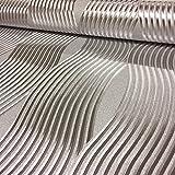 Arthouse Foil Wave Silver Wallpaper 294501