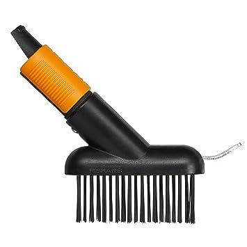 Fiskars Cepillo para baldosas, Longitud: 18,5 cm, Largo: 15 cm, Negro/Naranja, 1000657: Amazon.es: Jardín