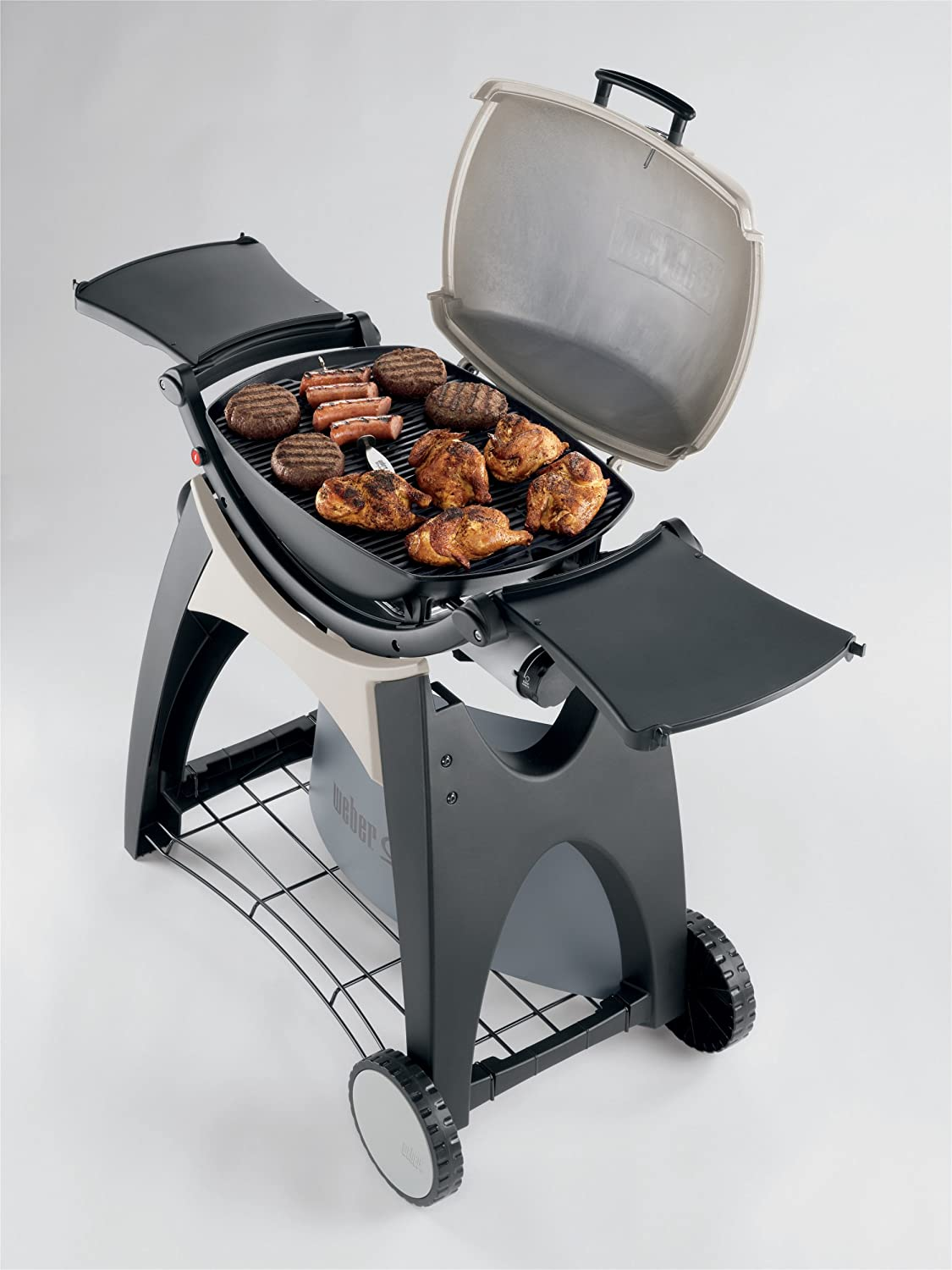 Amazon.com: Weber 566002 Q 220 Portable 280-Square-Inch 12000-BTU  Liquid-Propane Gas Grill (Older Model): Garden & Outdoor