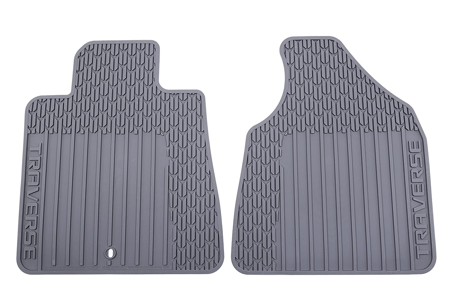 Amazon.com: GM Accessories 22890016 Front All-Weather Floor Mats in Ebony with Traverse Logo: Automotive