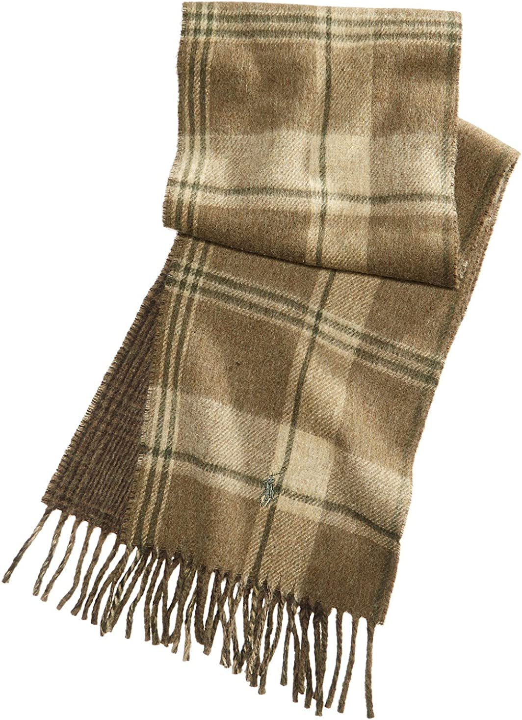 Polo Ralph Lauren Men`s Reversible Plaid Wool Scarf