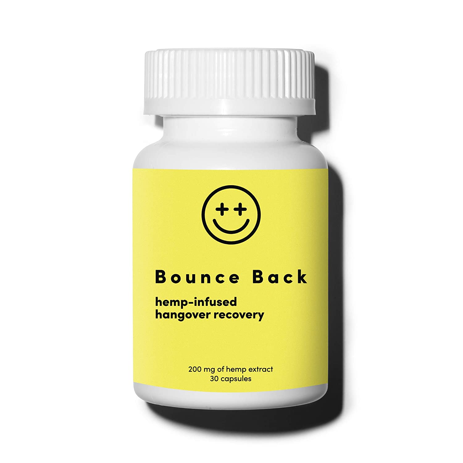 Bounce Back Hangover Cure and Prevention Pills 30 Capsules – After Drink Recovery After Alcohol Relief Aid with Dihydromyricetin DHM , Hemp Extract, Milk Thistle, Prickly Pear Extract, B Vitamins