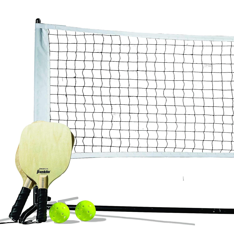Franklin Sports ピックルボールスターターセット - 公式スターターセット US Open - ネット、パドル2個、X-40 ピックルボール2個付き B07H8RS6YN