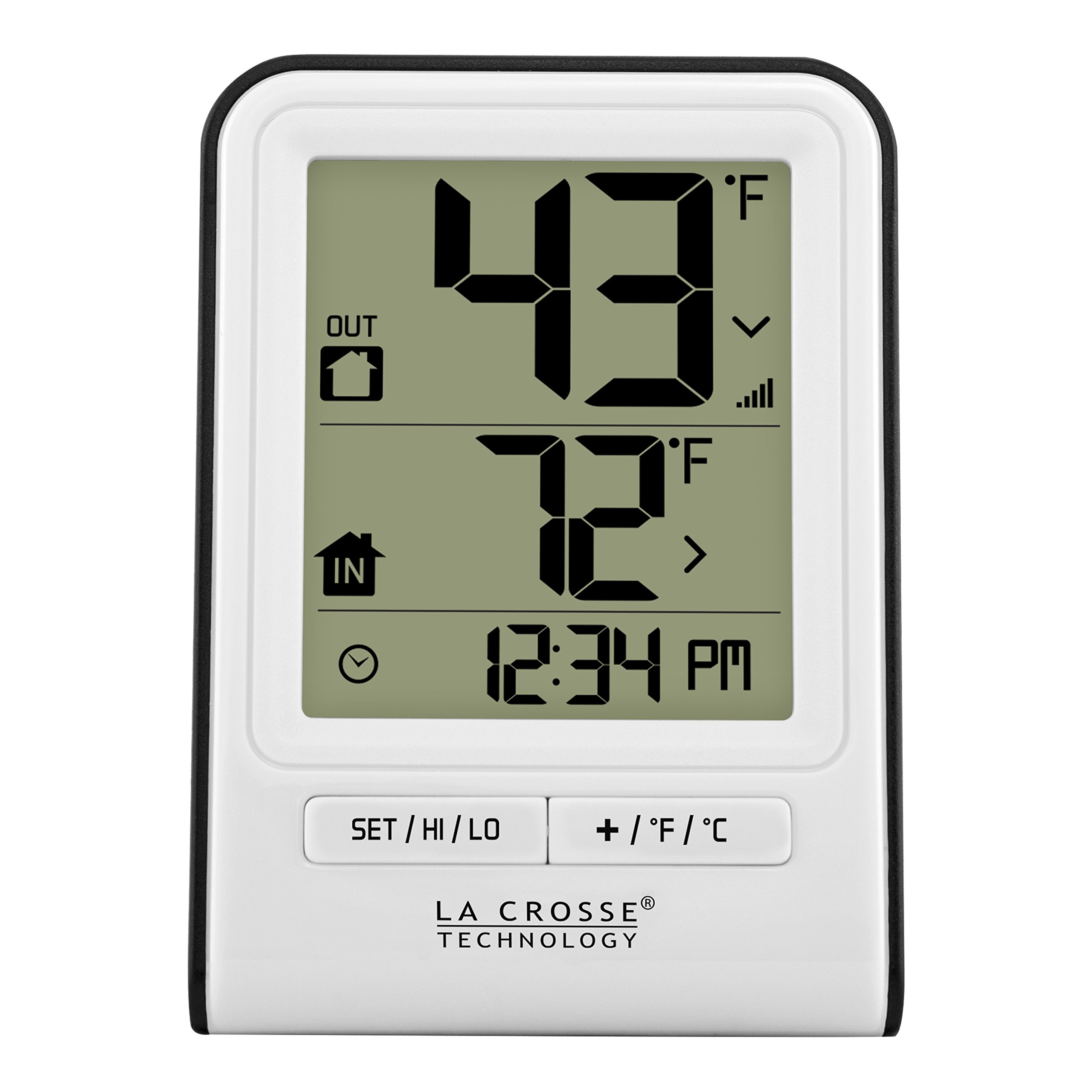 La Crosse Technology 308-1409WT-CBP Wireless Temperature Station with Time,White, by La Crosse Technology