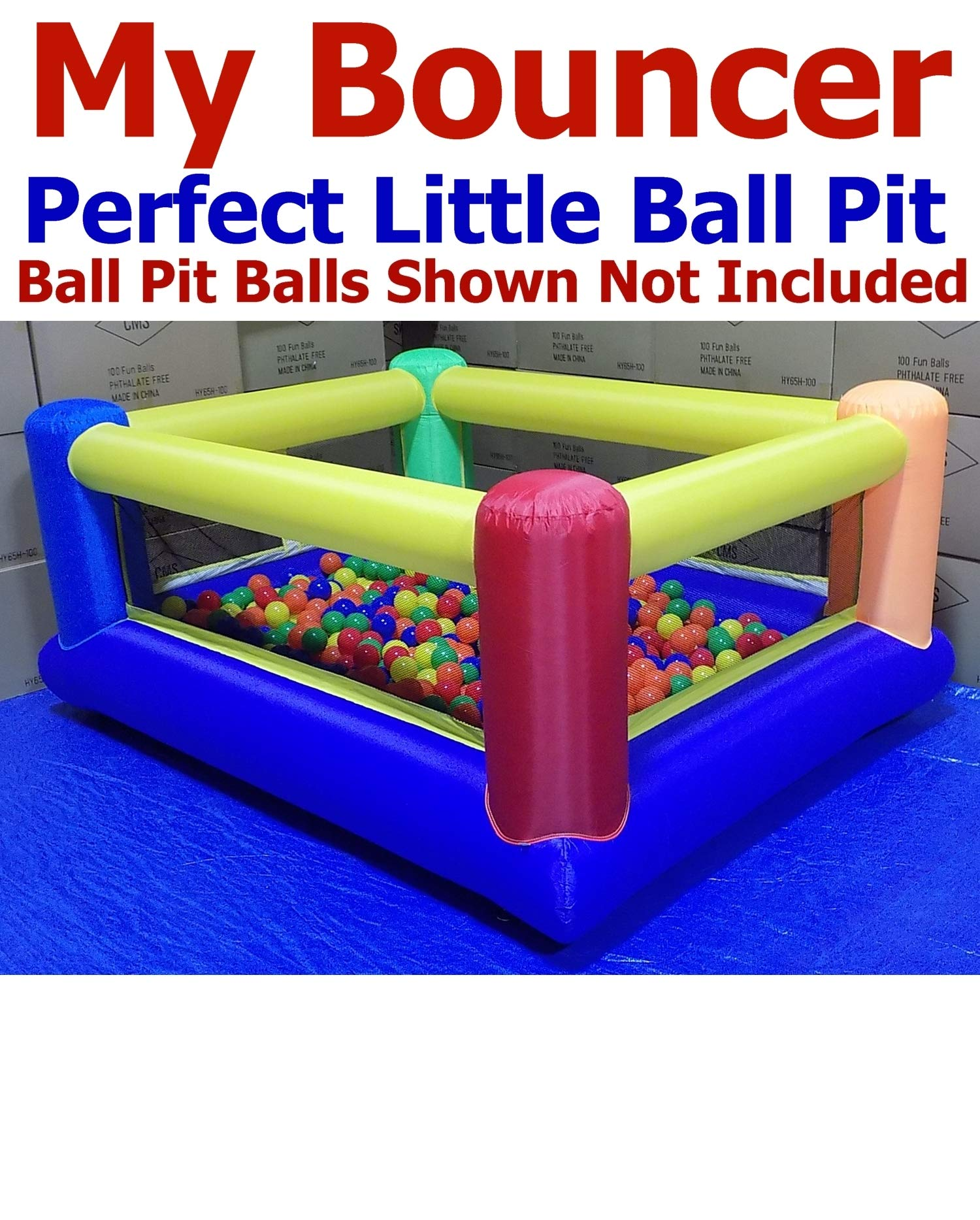 My Balls Pack of Jumbo 3'' Crush-Proof Ball Pit Balls - 5 Bright Colors, Phthalate Free, BPA Free, PVC Free, Non-Toxic, Non-Recycled Plastic by My Balls (Image #5)