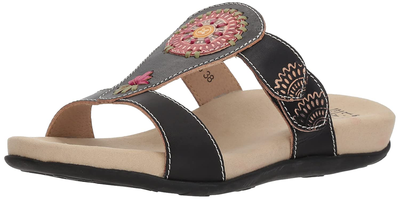 L'Artiste by Spring Step Women's Myrtle Sandals B079NYKK1L 38 M EU|Black