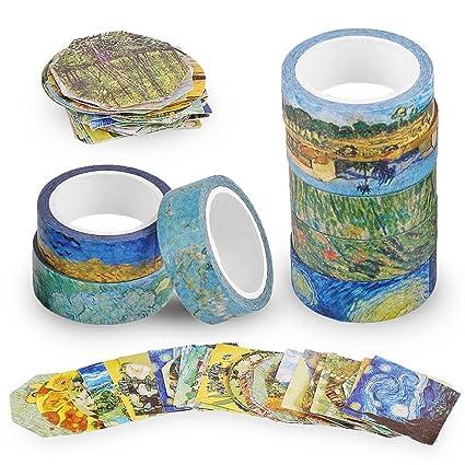 Amazon.com : TOOGOO Van Gogh Inspired Washi Masking Tape Set ...
