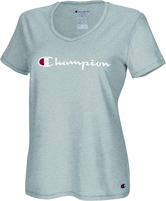 Champion Women's Plus Size Double Dry Cotton V-Neck Tee