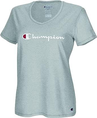 Champion Womens Vapor Cotton V-Neck Tee Short Sleeve T-Shirt
