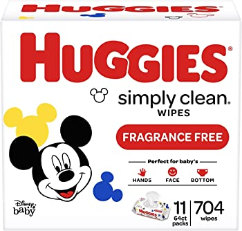 704-Count Huggies Simply Clean Baby Wipes (Unscented)