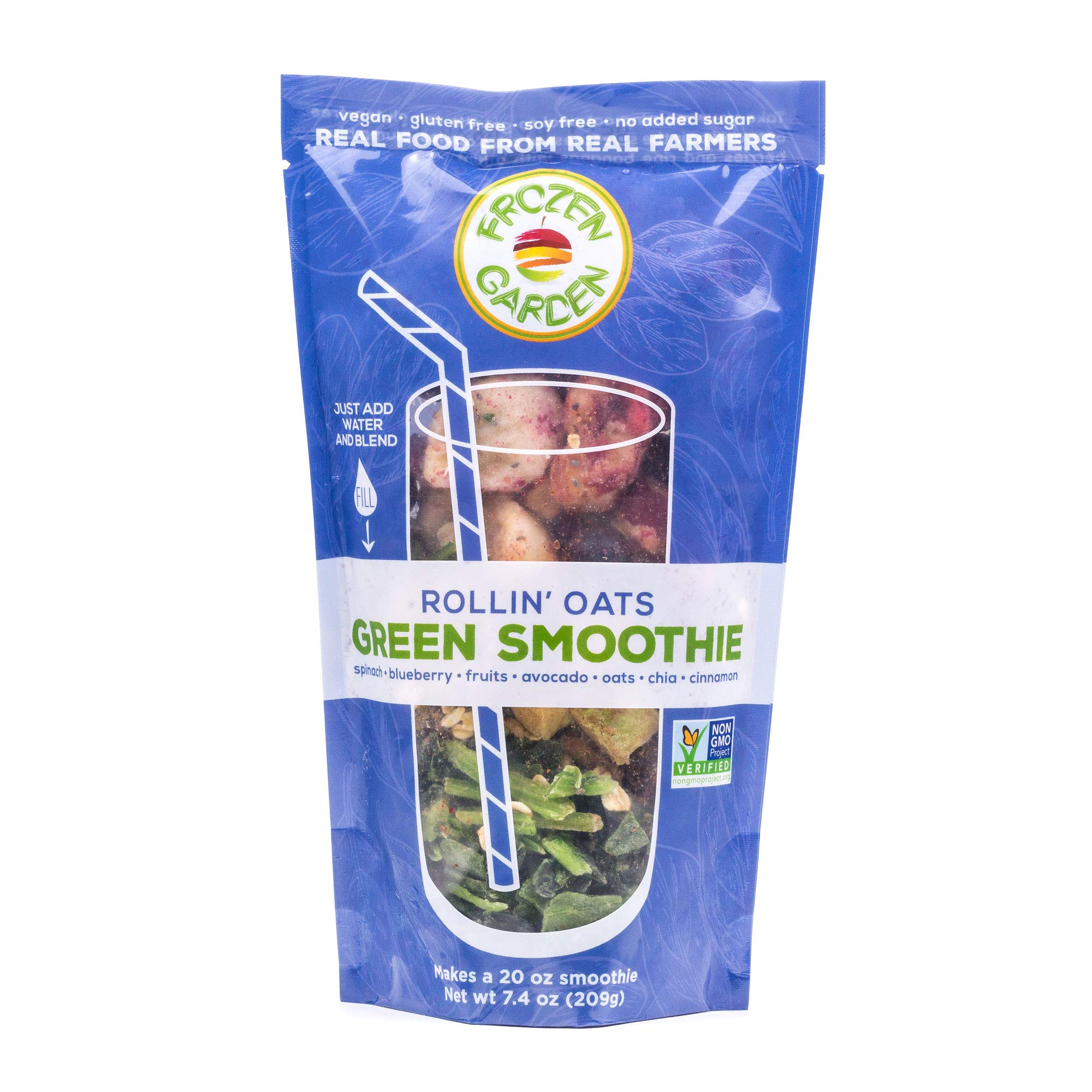 Frozen Garden Green Smoothie Pack - Rollin' Oats (24)